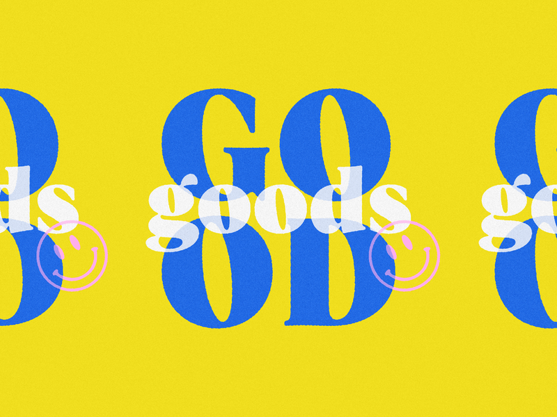 Good Goods branding good bright letters typography face smiley vintage icon branding logo