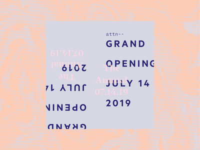Grand Opening graphic marble identity branding modern social announcement layout type