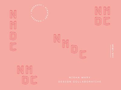 NMDC modular brand identity shapes geometric modern interior design architecture wordmark logo identity branding