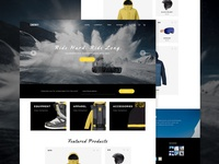 Snowboard Gear eCommerce Theme Concept