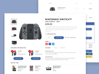 Nintendo Switch Upsells UI
