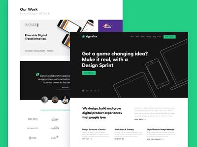 Signal UX Website design sprints digital product agency website web