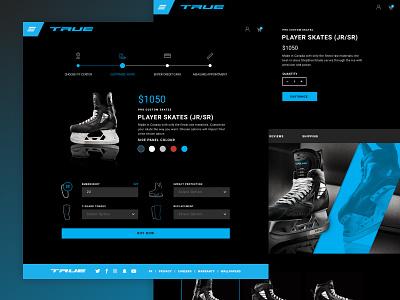 True Hockey Custom Skate Experience web experience ux ui product checkout ecommerce custom skate hockey true