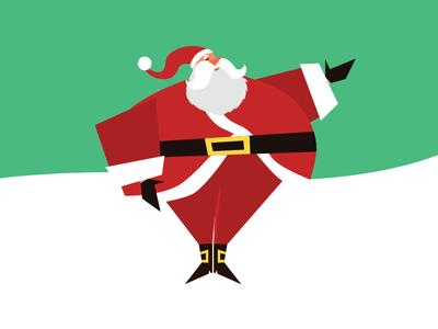 Happy Holidays! 2018 illustration santa claus holidays christmas
