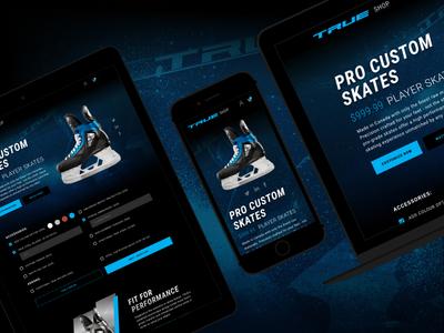 TRUE eCommerce Skate Customization mobile ux ui ecommerce web custom skates hockey true
