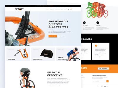 STAC Zero Trainer Website web ui ux ecommerce tunnel wind virtual website trainer bike