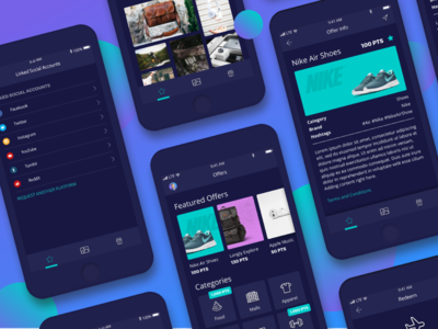 Bubble Rewards App product design influencers social rewards ui ux mobile