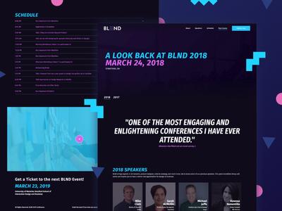 BLND 2018 Recap dark event conference business design website
