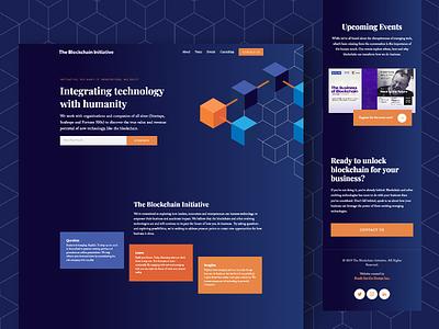 TBI: The Blockchain Initiative Landing Page design website web landing tech emerging blockchain
