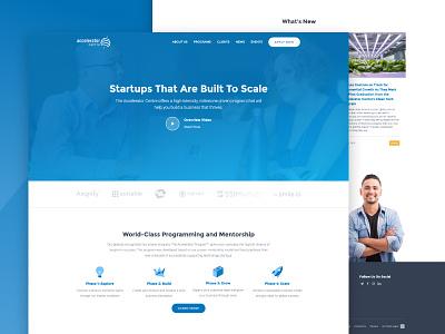 Accelerator Centre Website website web mentorship innovation startups incubator accelerator