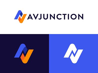AV Junction Re-Brand bold logo design brand av freelancers marketplace
