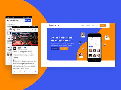 AV Junction Web & Product Brand Updates brand freelancers marketplace logo branding website ui ux
