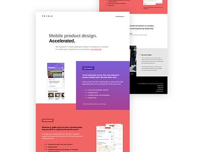Treble Concept landing page home page web design