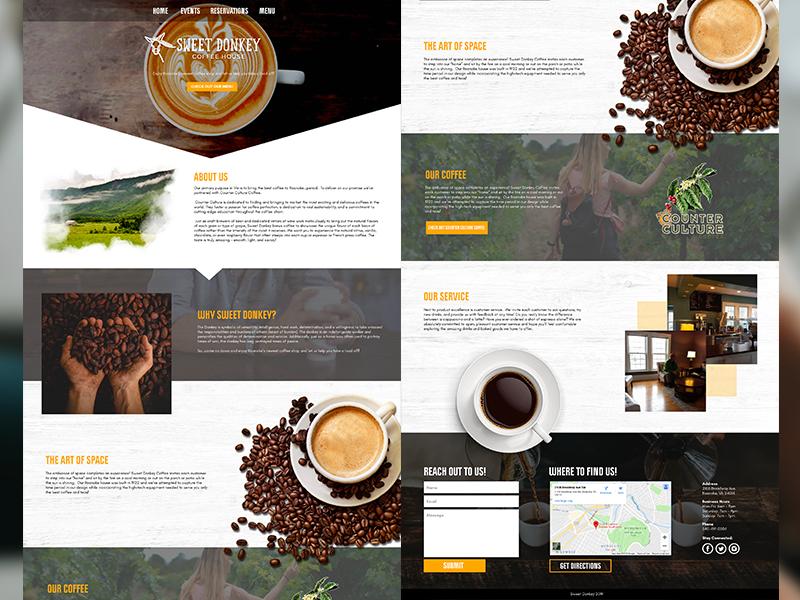 Sweet Donkey Coffee Desktop Web Design beans cafe desktop shop coffee