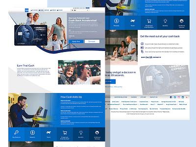 American Express Landing Page desktop blue finance money credit bank