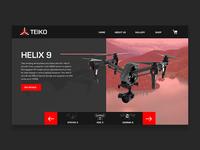 Drone Dark Homepage - Teiko