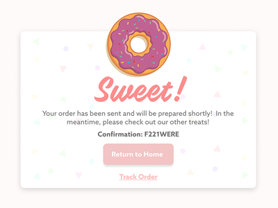 Donut Order Confirmation