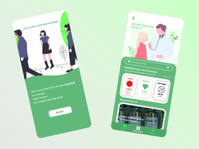 Covid Mobile Apps Design branding animation ui