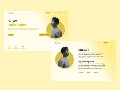 design simple portfolio graphic design ui