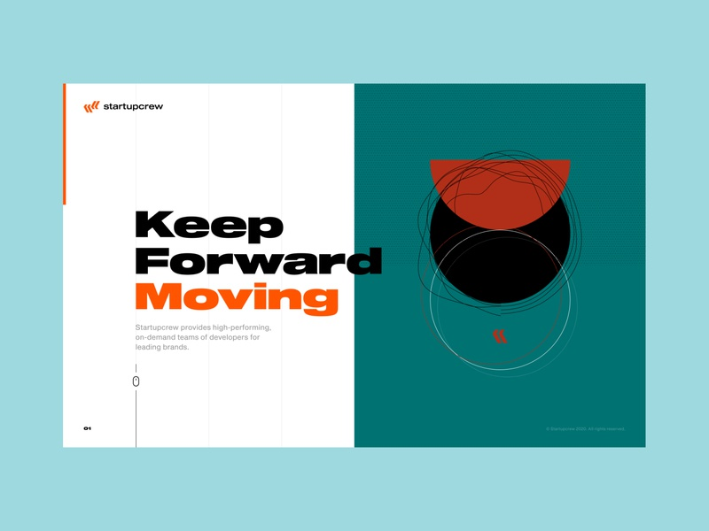 Startupcrew freelancers development company startup web design figma web site ui simple minimal art design