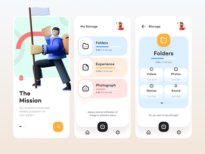 Res.Co app design mobile app mobile modern file manager ux user interface experience figma app ui minimal design