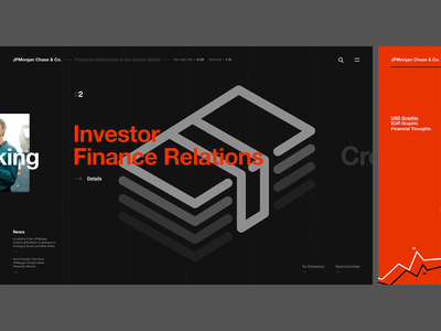 JPMorgan Chase & Co. banking economy finance figma jpmorgan web design typography site simple web site minimal design art