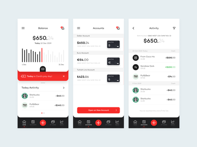 Bank of Trust - Bank App simple finance figma iphone ux ui art direction minimal banking design app mobile