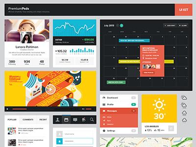 Freebie Psd - UI Kit free psd user interface ui widget design button navigation