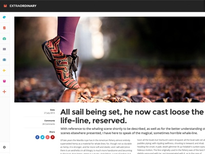 Freebie Psd - Extraordinary Detail free psd user interface ui magazine news blog navigation modern layout