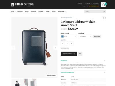 Uberstore - Premium Shopping Theme  ecommerce store shop responsive theme design web modern clean