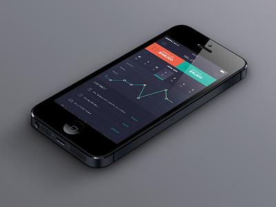 Wallet iphone app colorful ios mobile finance wallet dark clean