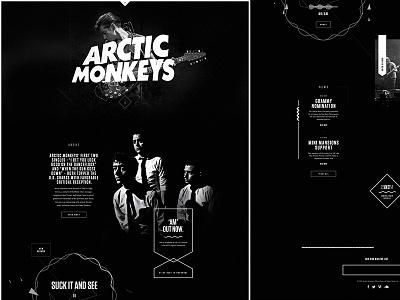 ArcticMonkeys.com music sound rock grunge minimal shape web design arctic monkeys