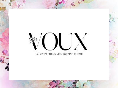 The Voux feminine blog fashion news wp theme magazine