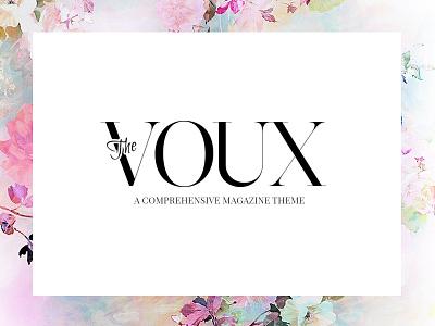 The Voux feminine blog fashion news wp theme magazine
