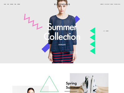 Eleven Paris Re-design shop ecommerce fashion simple modern redesign web