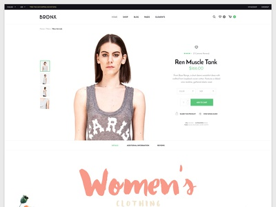 Bronx theme web ecommerce fashion shop woocommerce wordpress