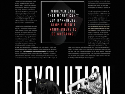 W Magazine - Article grid news blog clean layout typography magazine editorial article