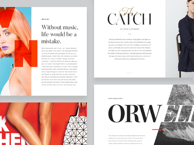 Typography Exploration No.1 article minimal font editorial magazine type typography