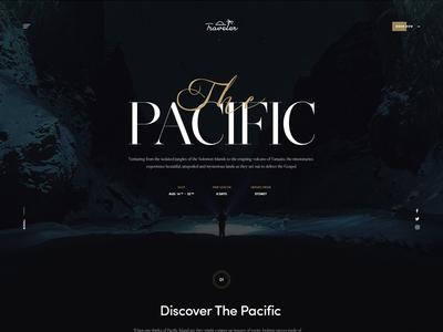 Traveler ux ui minimal photography black typography landing guide travel