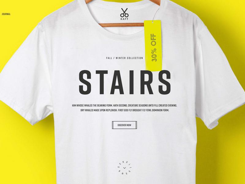 Kaft website ux ui store shop interaction fashion ecommerce