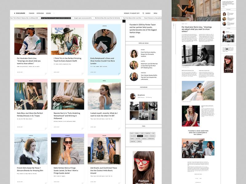 Disclosure Mag web minimal user interface clean blog ui ux magazine