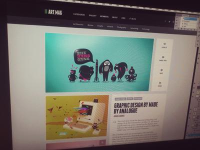 Artmag Work Detail design web button clean user interface minimalist portfolio art mag magazine blog web design