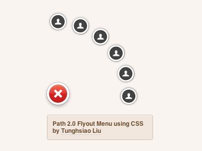 Path 2.0 Flyout Menu using CSS