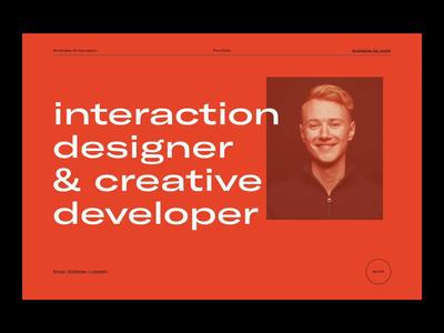 Portfolio — 001. Index. page minimal clean website transition intro reveal portrait brightness typography ui portfolio
