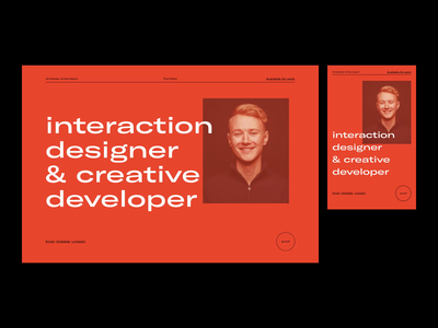 Portfolio — 003. Screens. minimal clean screens responsive projects portfolio horizontal scroll layout typography page website ui