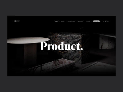 XTONE — 001 layout stones furniture scrolling parallax typography animation page ui website