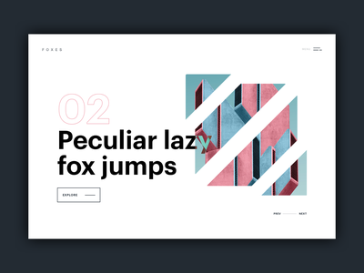 Layout Exploration blend modes mask shapes abstract square typography page website layout ui
