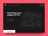 Bicycle Webshop Landing Page