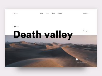 Death Valley Layout travel minimal desert article layout design typography page website ui