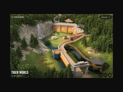 Interactive Wildlife Park transition page interactive zoo animals 3d animation ui website map park wildlife